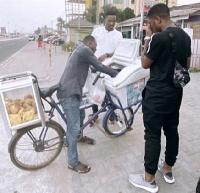 Sharaf Mahama was seen buying Fanyogo in town