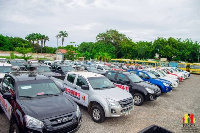 Government in June donated 50 pickup trucks to the NCCE