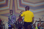 Wizkid and Davido performing on stage