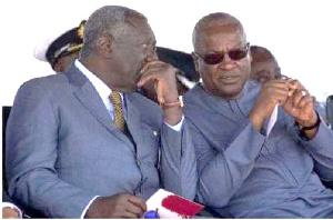 Former President John Agyekum Kufuor and John Mahama