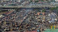 Circle-Odawna market was razed down by fire a few weeks ago