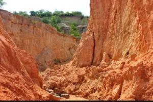 File photo of Weija cliffs weathering  away