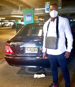 Richard Commey after he landed in USA