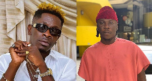 Shatta Wale (L) and Stonebwoy