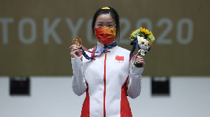 2020 Olympic Games: China Yang Qian win di first Gold Medal of 2020 Olympics