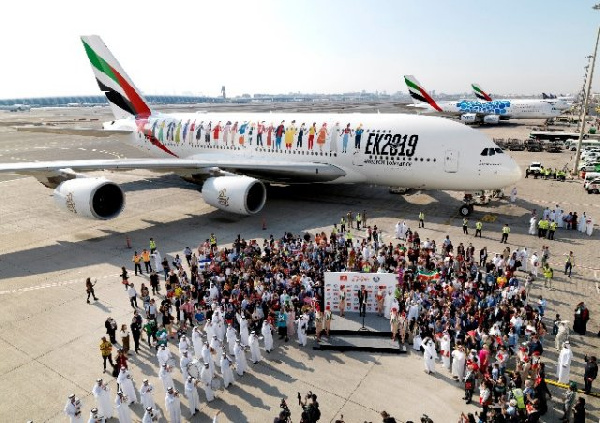145 nationalities, variety of cultures make history on Emirate flight