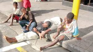 File photo: Several people live on the streets in the country
