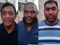 (L-R): Ahmed Shaik Hazis, Denver Dwayhe Naidu and Mlungiseleli Jokani