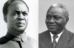 Ghana's first president Kwame Nkrumah and JB Danquah, a former lawyer and leader of the UPP