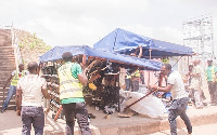 The exercise forms part of the assembly's initiative to rid Accra of illegal structures