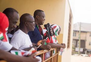 Samuel Ofosu Ampofo addressing NDC members at Ayawaso West Wuogon Constituency