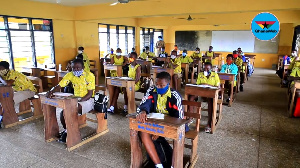 Some students at the Bethany Methodist Basic School