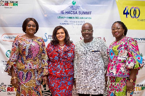 L-R:  Barbara Oteng-Gyasi, Amb. Johanna Odonkor Svanikier, Patricia Appiah-Agyei, Deputy Minister