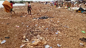 The Akateng community has been engulfed in filth