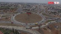 A picture of the Tema roundabout interchange project