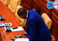 Dr Bernard Okoe Boye, MP for Ledzokuku Constituency presenting a statement in Parliament