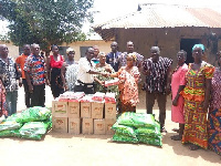 Families receiving the donations