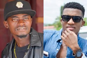 Actor LilWin and singer Kofi Kinaata