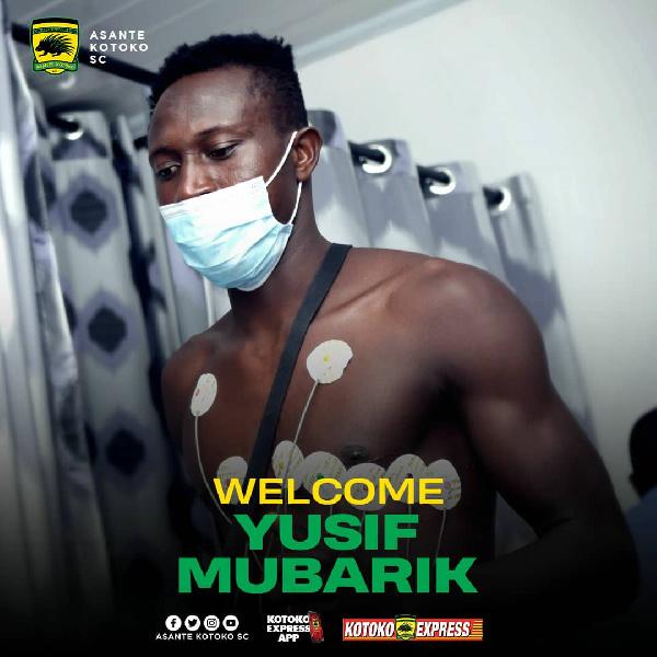 Asante Kotoko announce second signing Yusif Mubarik