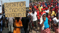 Some Togolese in Ghana led protests against the sitting President, Faure Gnassingbe