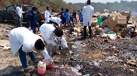 FDA officials destroying quantities of unwholesome products to safeguard public health and safety