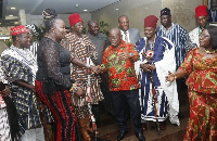 Akufo-Addo with a delegation from the Navrongo Traditional Area at the Jubilee House