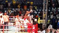 Abraham Osei Bonsu (12-2-1, 10 KOs) defeated Felix Ajom (8-1-1, 7 KOs)