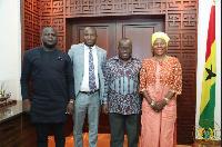 President Akufo-Addo with the family of the late Aliu Mahama