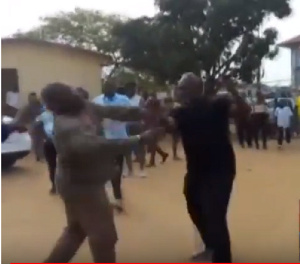 Sam George was slapped by a National Security operative during the Ayawaso West Wuogon by-election