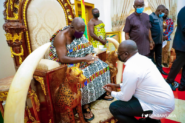 Bawumia assures Asantehene of NPP\'s commitment to peaceful campaign and elections