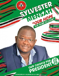Sylvester Mensah disclosed that he was unaware of presidential campaign posters