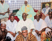 Yaw OsafoMaafo at the Ya Na palace in Yendi