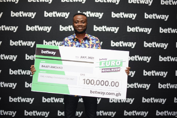 Football fan bags GHS100,000 in Betway's 2020 Euros promo