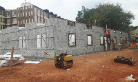 Work on the 1500 square meter Mother and Baby Unit at Komfo Anokye Teaching Hospital is fast progres