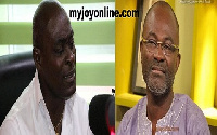 Kwabena Nsenkyire, (L) and Kennedy Agyapong, NPP  MP for Assin Central (R)