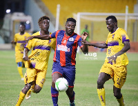 Asamoah Gyan played his first game for Legon Cities against Medeama