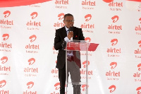 Richard Adiase, Acting Head of Airtel Business speaking at the launch of Airtel Quonect