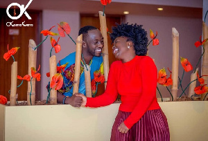 Okyeame Kwame and his wife, Annica