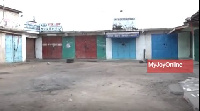 Some of the closed shops in Accra