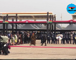 Delegates of Anlo state lay wreath at Rawlings's funeral after threats of boycott