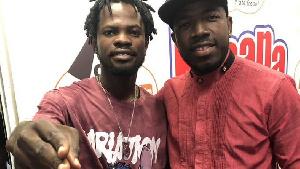 Musicians Fameye and EBA