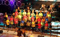 Some kids at the gospel musical concert