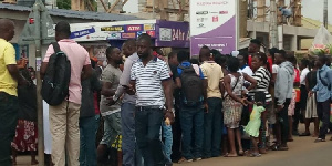 Most of the customers were petty traders, market women and students