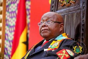 Speaker of parliament, Prof. Michael Aaron Oquaye