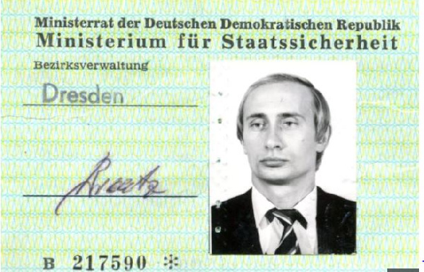 Vladimir Putin was 33 when he received this Stasi ID card