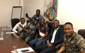 Coach Kwasi Appiah and Skipper, Asamoah Gyan in a pose