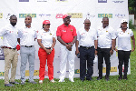 Asantehene, Otumfuo Osei Tutu II together with Vodafone Ghana officials