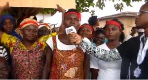 Some women of Ntenanko speaking to the media