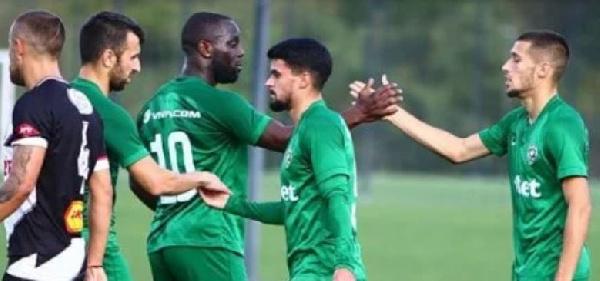 Attacker Elvis Manu scores three goals for Ludogorets