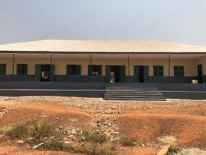 The newly-refurbished classroom block